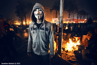 V in Tahrir | by Jonathan Rashad