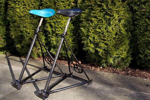 Two Bike Stools Bike Seat Bar Stools By Tom S Cargo