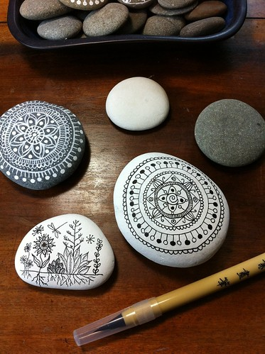 more pebbles... Pebble Drawing | by MagaMerlina