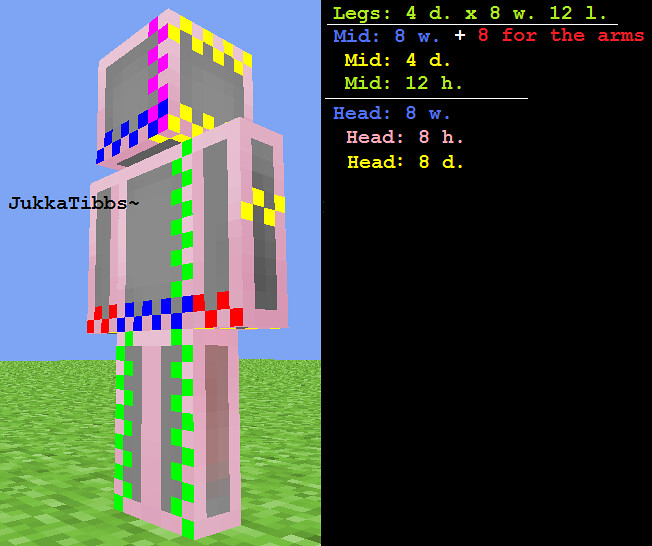 Dimensions Skin For Statue Dimensions For A Minecraft Skin Flickr - Skins para minecraft 1 8 x