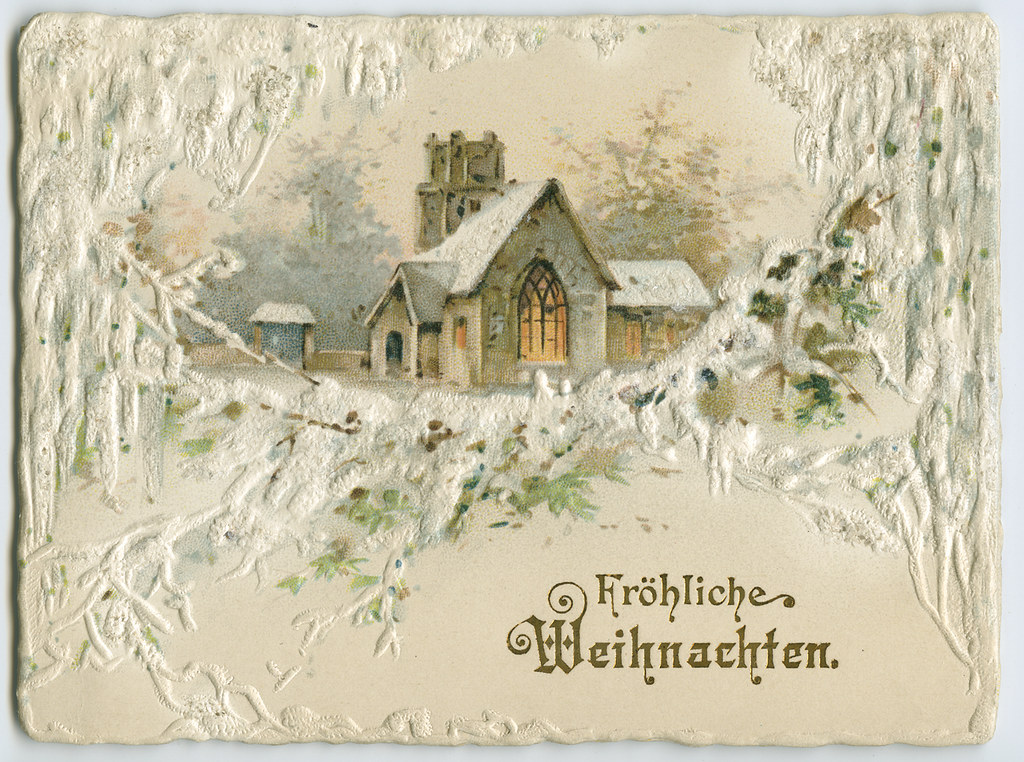 German Christmas Card, early 20th century | Manuscripts and … | Flickr