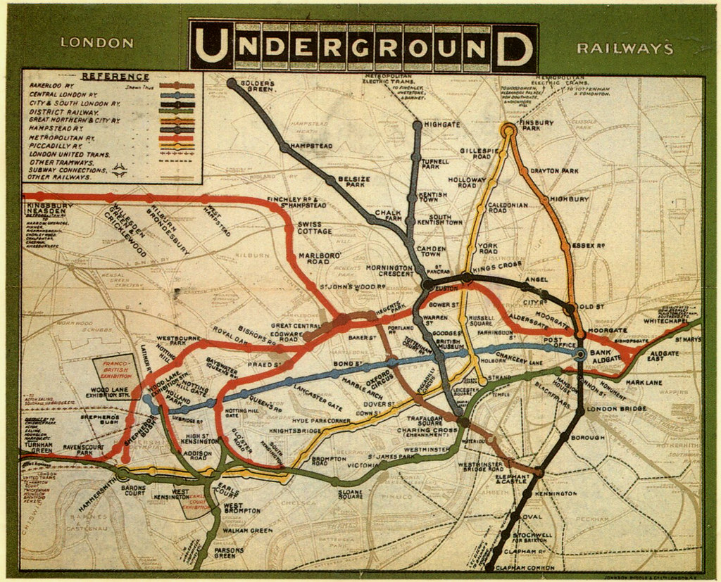 london underground map 1908 by roger4336