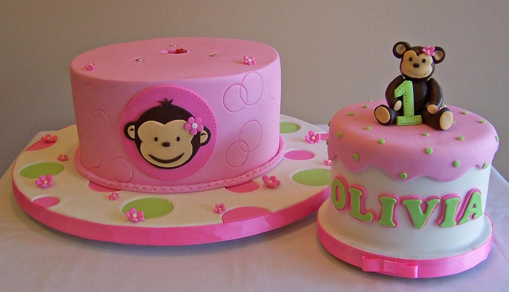Girl Monkey Cake Detachable Smash Cake Beth Flickr