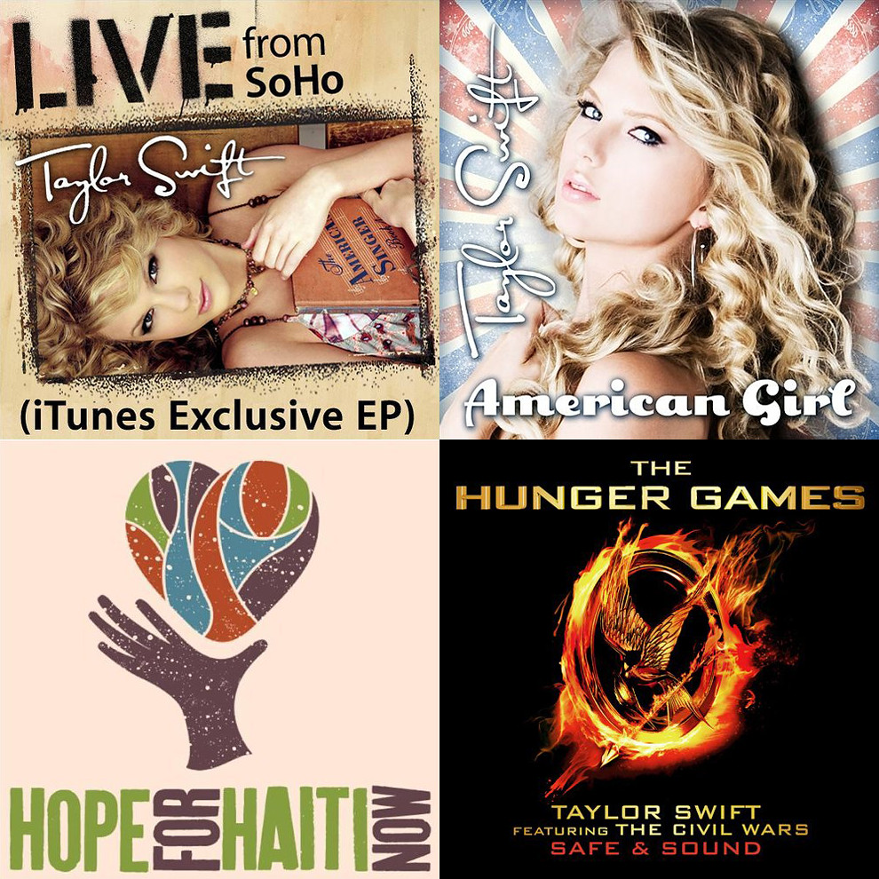Taylor Swift - promo singles / charted songs   These are mis