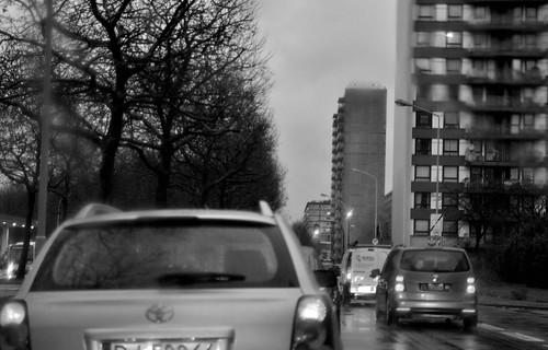 rainy day in Antwerp