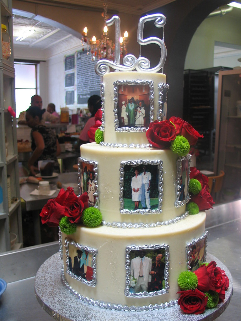 ... 3 Tier Anniversary Themed Wicked Chocolate Cake Iced In White Chocolate  Ganache Decorated With Edible