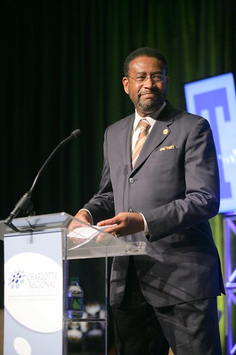 Johnson C. Smith President Ron Carter gave thanks for Charlotte USA's blessings at the Charlotte Regional Partnership's 2011 Annual Awards Luncheon. | by CharlotteUSA