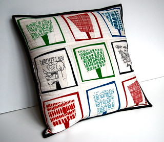 Summer Trees Pillow | by Fat Quarterly