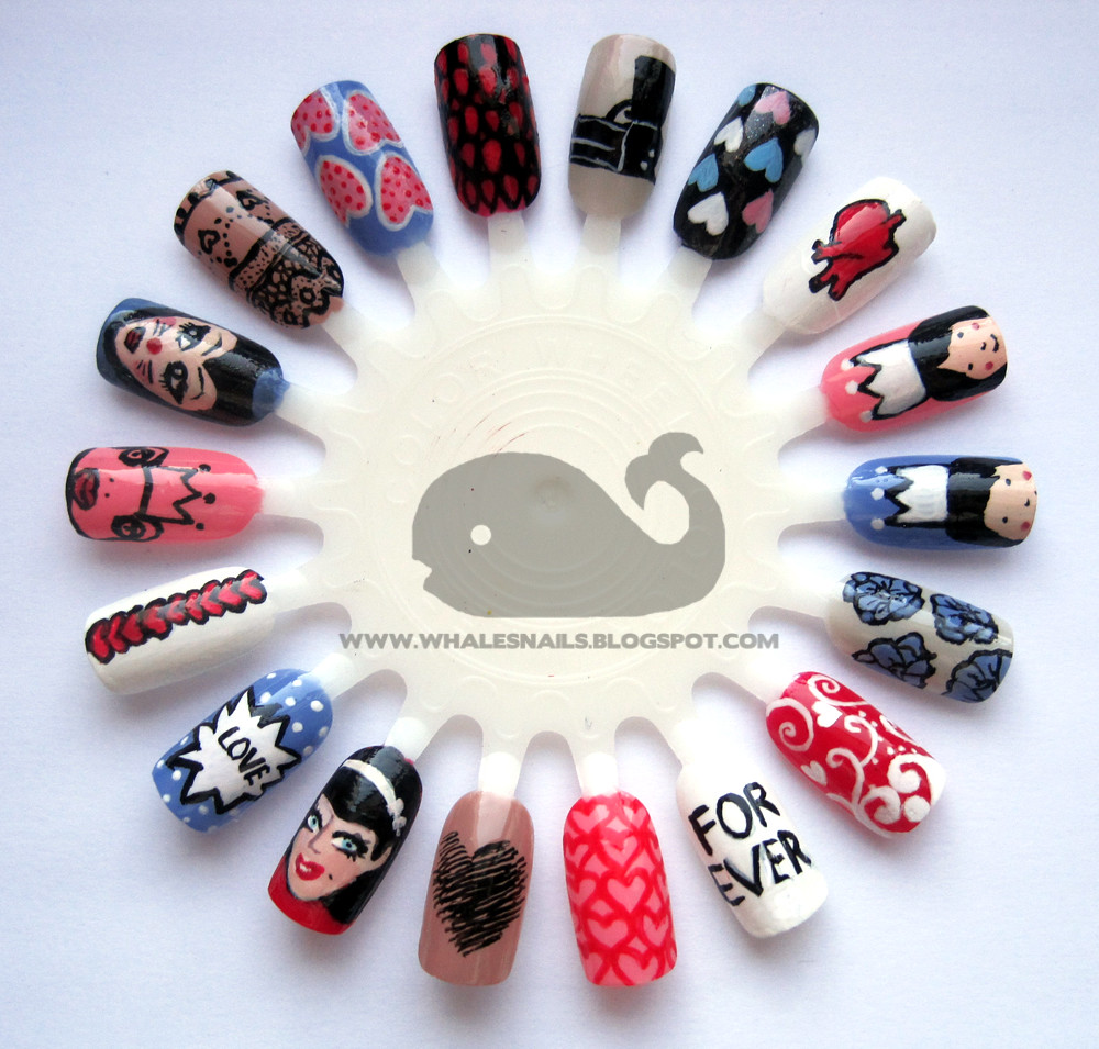 Valentines Day Nail Art Wheel | check my blog for details :)… | Flickr