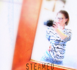 Steamed. How geeky chicks take steamy bathroom mirror pics. :P High key and texture added. | by digitallypinked
