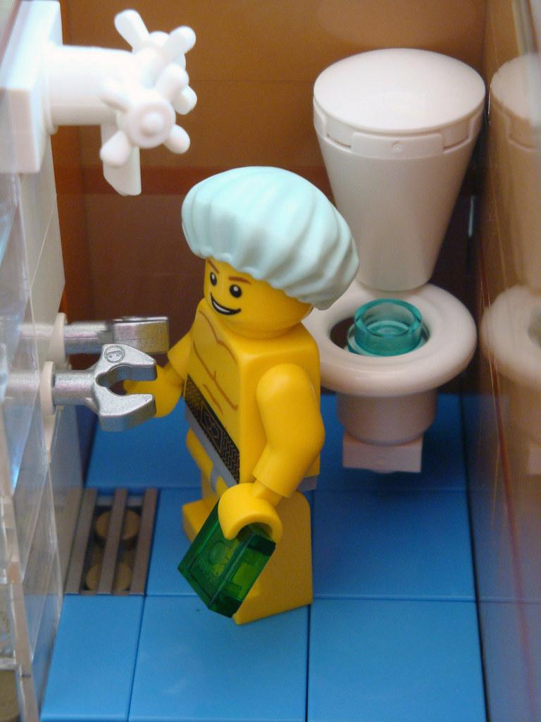 Merveilleux ... LEGO Collectable Corner   Minifig Maison Apartment   Bathroom Interior  | By Dita_svelte
