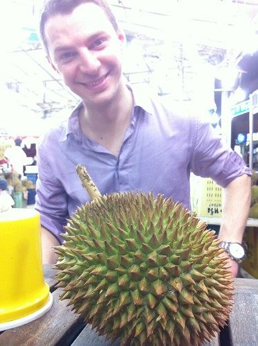 Maxime takes on the SG Durian! | by genieneo