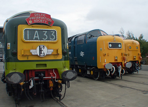 D9009 Alicydon D9000 Royal Scots Grey  & 55002 Kings Own Yorkshire Light Infantry | by jst @ Tanfield