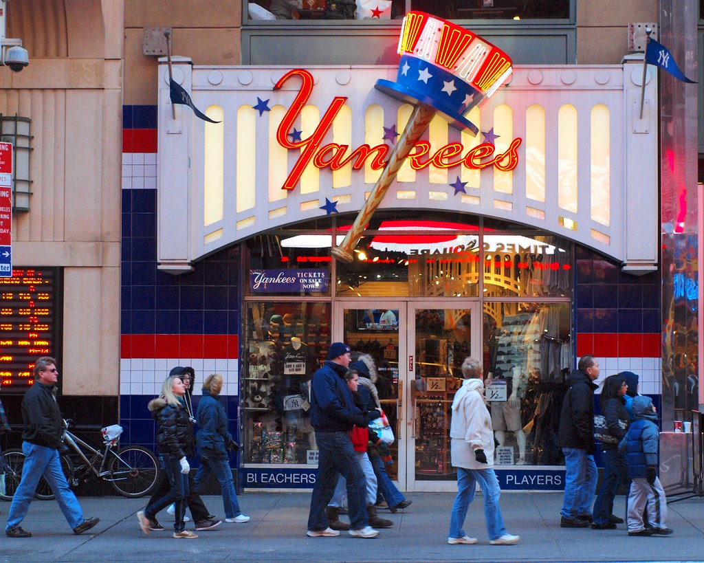 ... Yankees Merchandise Store on 42nd Street ea9f2c8a99b