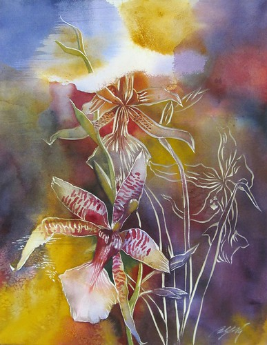 new year orchid painting | by alfred ng (photos and paintings)