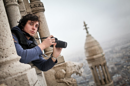 Edward on top of the Basilique du Sacre-Coeur | by Sam Brill