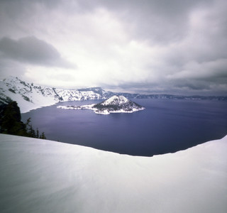 crater lake, winter wardrobe | by manyfires