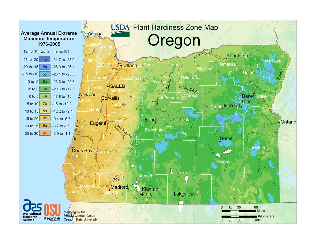 Oregon PRISM map This new zone hardiness map for plants wa Flickr