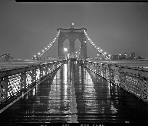 Brooklyn Bridge on Rainy Night, Toyo 4x5 | by Shawn Hoke