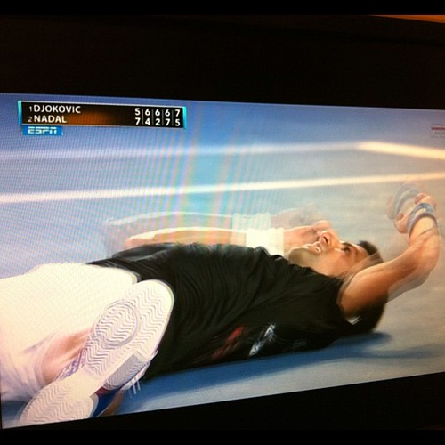 And it goes to #Djokovic. Over 5 hours. #tennis #australianopen #australia #espn | by Andy King