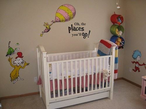 My First Room Toddler 3 Piece Room In A Box: Dr Seuss Dr. Suess Theme Wallpaper Wall Paper Art Sticker