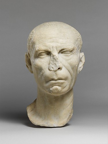 Marble Portrait Of A Man Period Late Republican Or Early