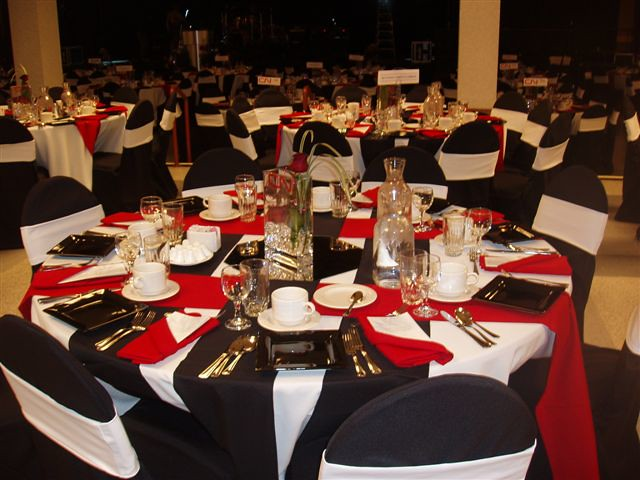 White Black And Red Wedding Decor So Handy Flickr