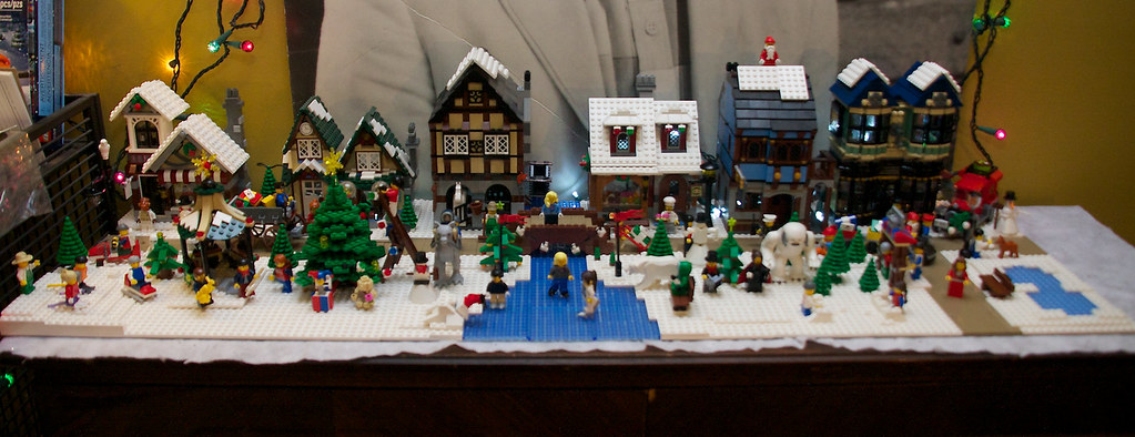 lego christmas village by rob bender