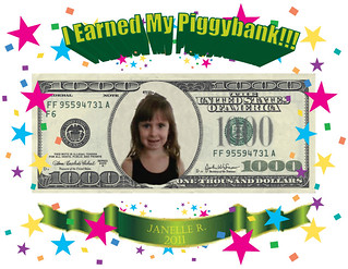 Janelle R. Earned Her Piggy Bank! | by ajlibrary