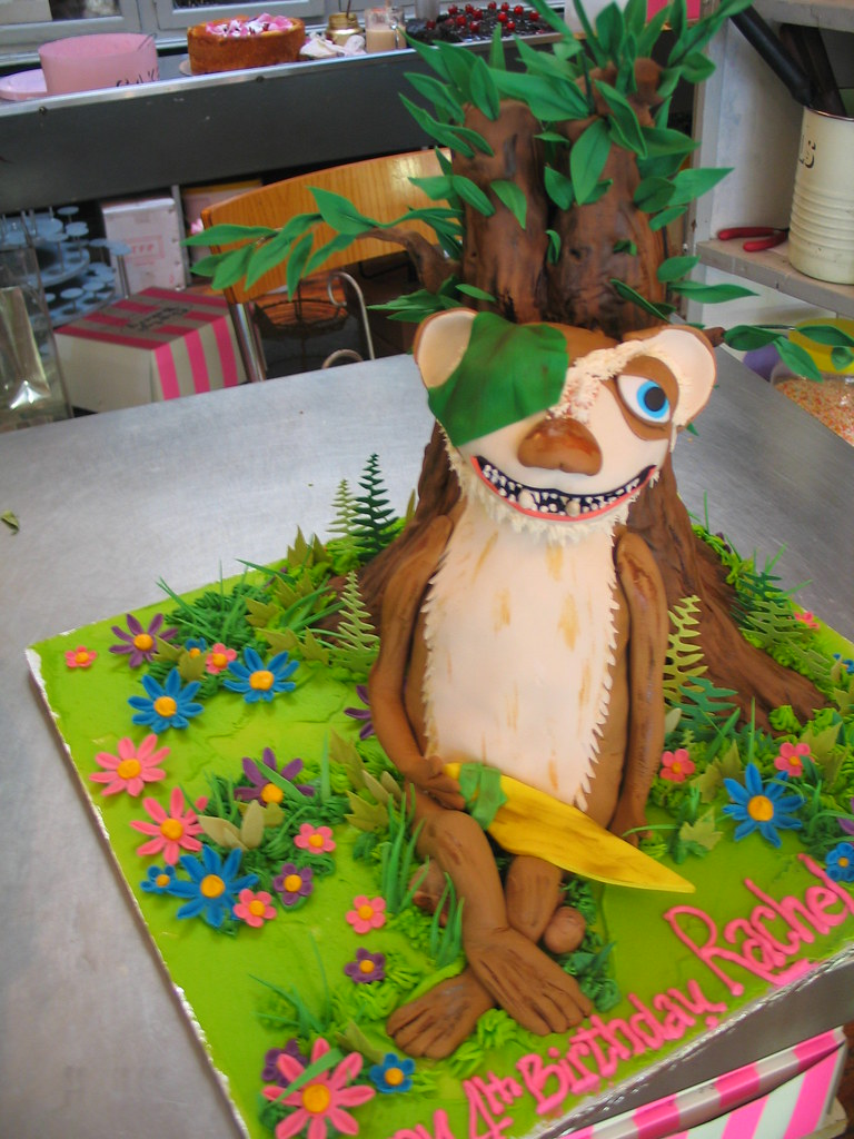 3D Buck Ice Age character shaped cake covered in fondant i Flickr