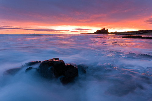 Sunrise at Bamburgh Castle #1, Northumberland, North East England | by Anthony Lawlor