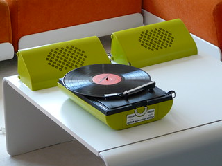 Green Schneider stereo recordplayer SE 460 … | by bb...60s...70s