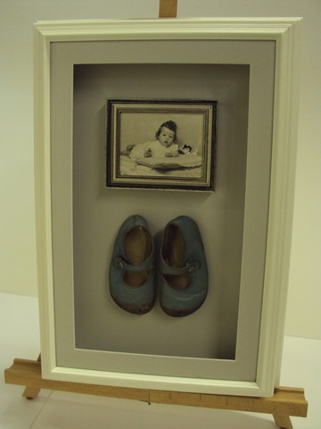 Framed shoes & photograph | by bespokeframing