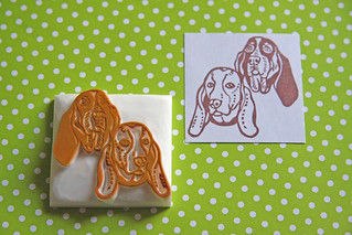 Hand Carved Pet Portrait Stamp | by StampsbySachi