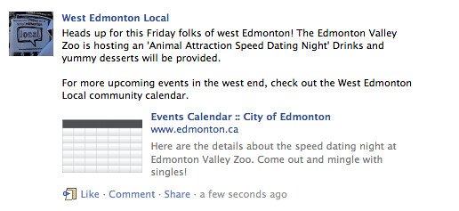 Edmonton Zoo Speed dating
