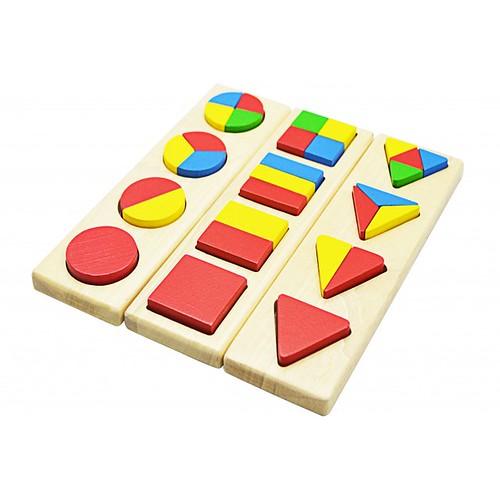 Đồ chơi gỗ - Hình học -  Tấm ghép hình học mẫu 3