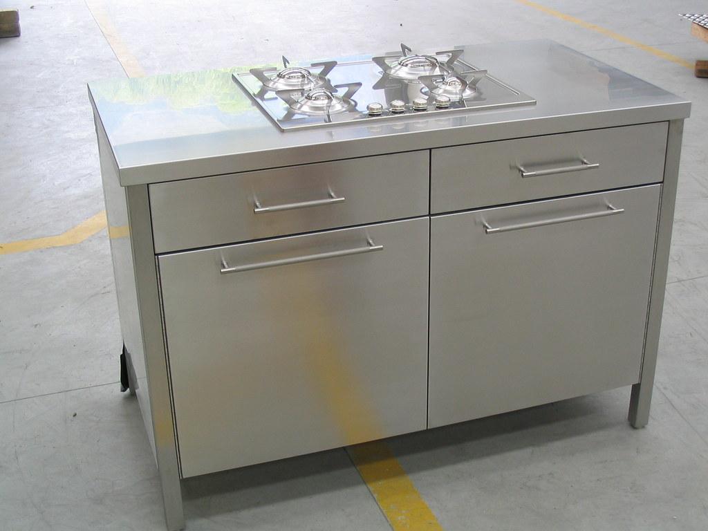 Mobiletto inox arredamento cucina antine e maniglie in ino… | Flickr