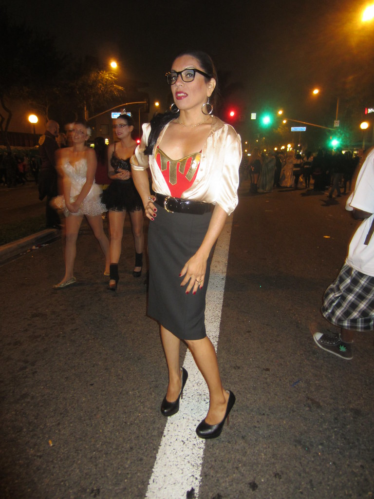 samara riviera the literary diva at the west hollywood halloween costume carnaval on santa monica boulevard