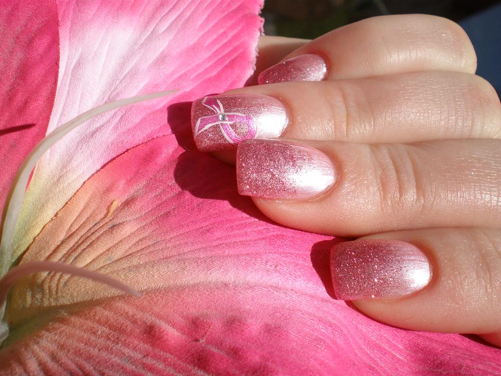 Pink Ribbon Nail Art Rosa Nicole Flickr