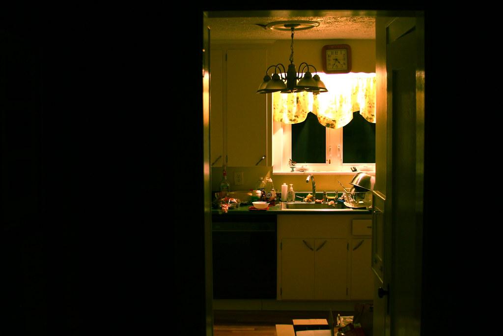 Dark Kitchen At Night my dark, messy kitchen at night. | chris waits | flickr