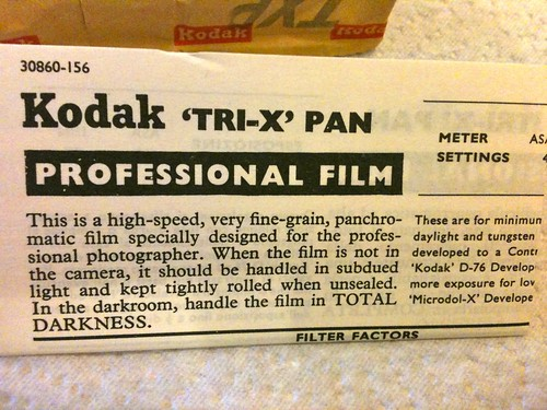 Tri-X Pan 120 film leaflet - 1 | by redspotted