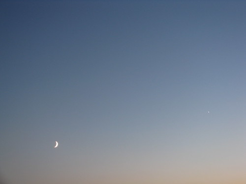 From my Balcony - North Star meet the Moon in the Dusk Sky of Paris | by ウィウィ