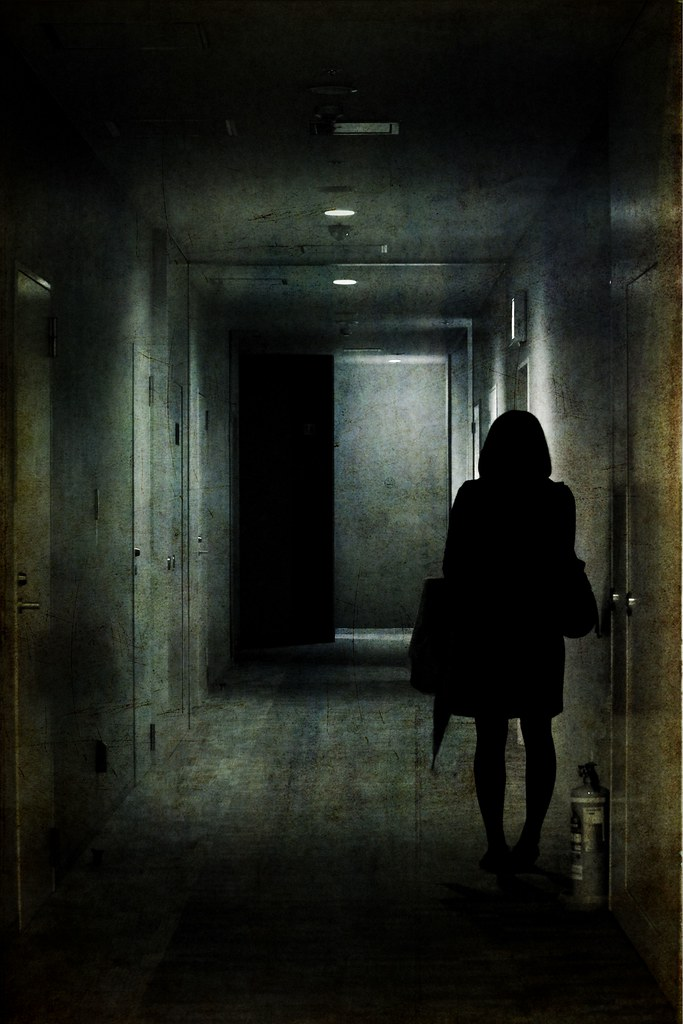 Girl in the corridor added texture by skeletalmess better girl in the corridor by tanakawho sciox Image collections
