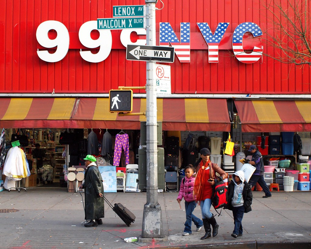 99 CENT NYC Store On Lenox Avenue Central Harlem New York City