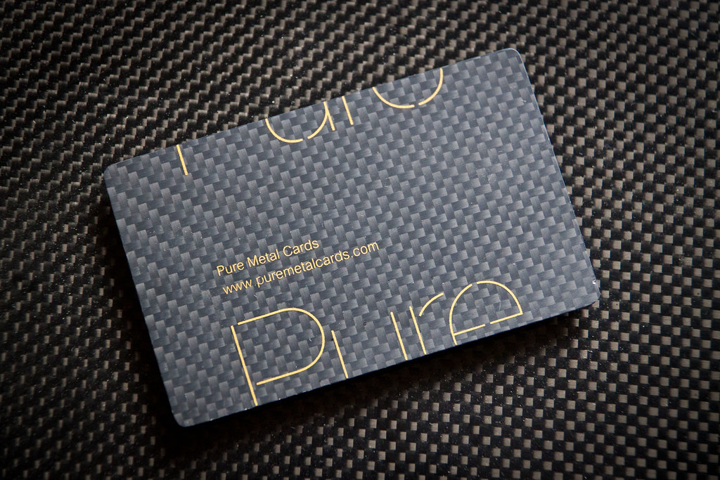 Carbon fiber business card by Pure Metal Cards | Carbon fibe… | Flickr