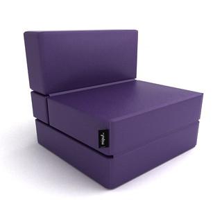 Puff cama convertible violeta al concepto de decoraci n - Puff convertible cama ...