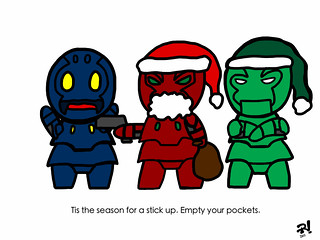 Little Robots Christmas Strip #17: Bad Santa | by Eye of The Sun God
