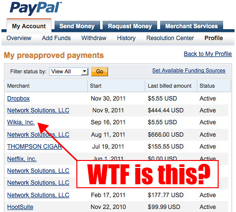 paypal how to stop a recurring payment