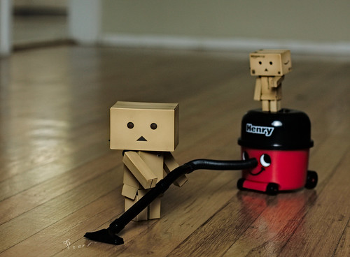 Never let it be said that a Danbo doesn't know how to earn his keep! | by .•۫◦۪°•OhSoBoHo•۫◦۪°•