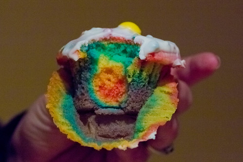 rainbow cupcakes to ring in the leap year! | by Sarah and Jason